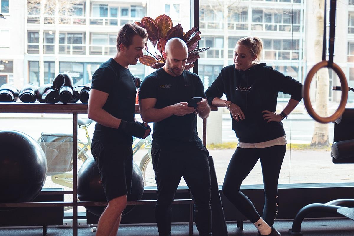 Duo training, fit met zijn tweeën